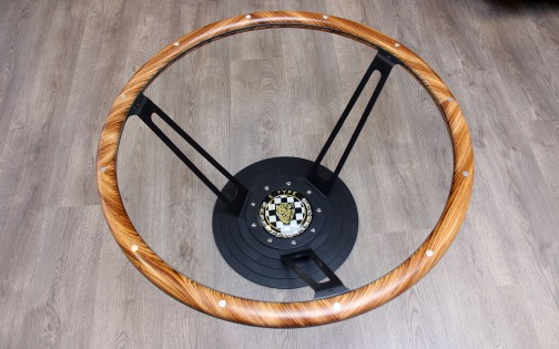 "STEERING WHEEL COFFEE TABLE ""GOODWOOD"""