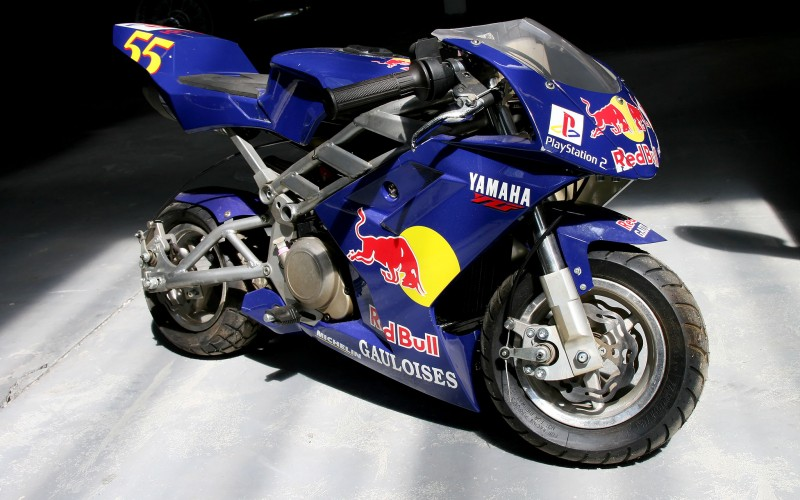 pocket bike yamaha red bull. Black Bedroom Furniture Sets. Home Design Ideas